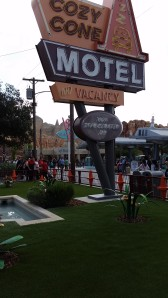 The Cozy Cone Motel in Cars Land