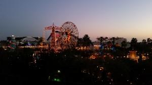 Overlooking Paradise Pier at California Adventure