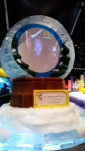 Giant snowglobe you could see yourself on!