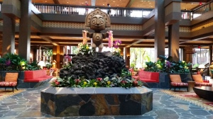 Polynesian Village lobby tiki