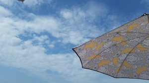 Summer sun under the umbrella