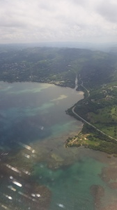 Flying into Montego Bay, Jamaica