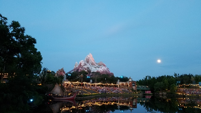 Everest looming over Rivers of Light