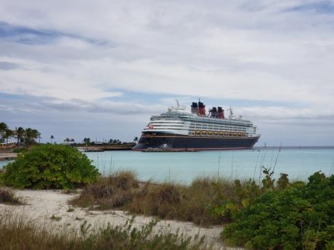 Disney Magic docked at Castaway Cay
