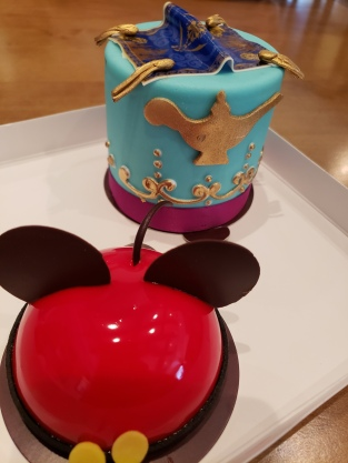 Mickey dome cake & Aladdin layer cake