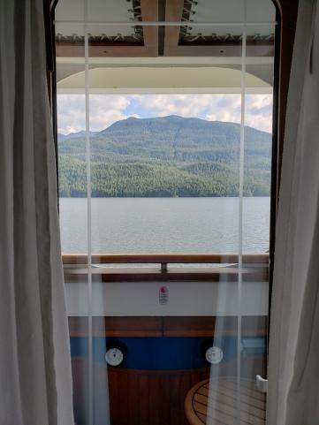 Our navigator's verandah view