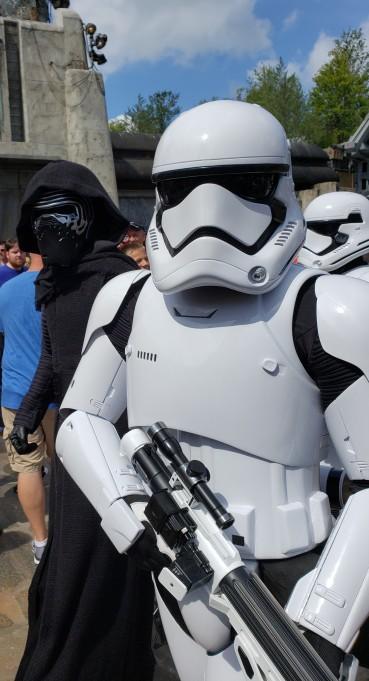 Stormtroopers and Kylo Ren