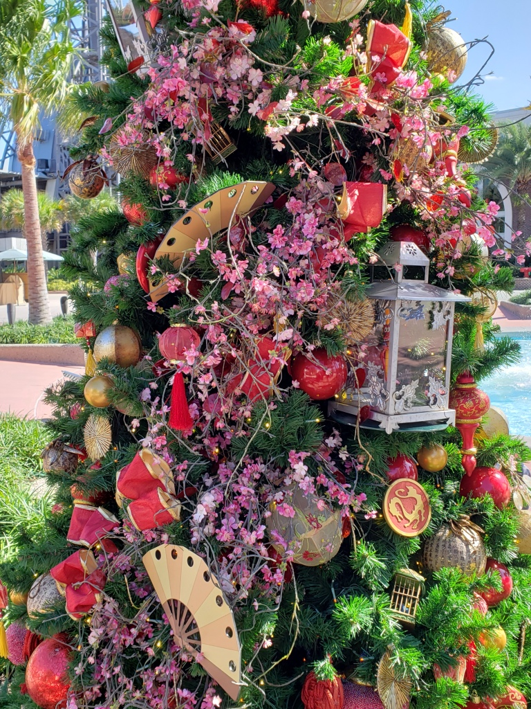 Mulan themed tree at Disney Springs