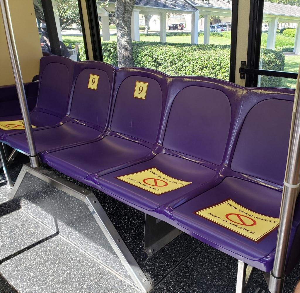 Bus seat division